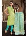 Green Designer Readymade Churidar Salwar Suit