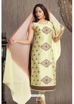 Olive Green Designer Readymade Churidar Salwar Suit