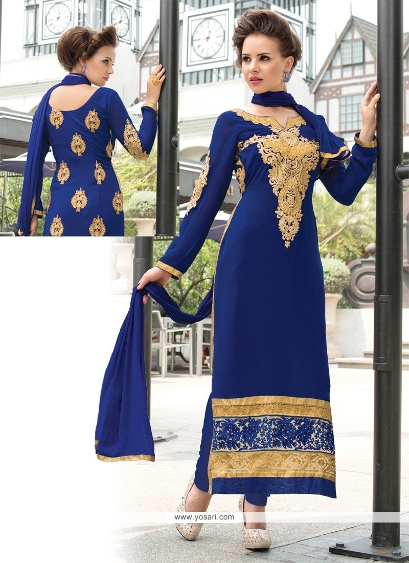 Regal Georgette Resham Work Churidar Salwar Suit