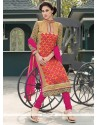 Irresistible Embroidered Work Georgette Churidar Salwar Kameez