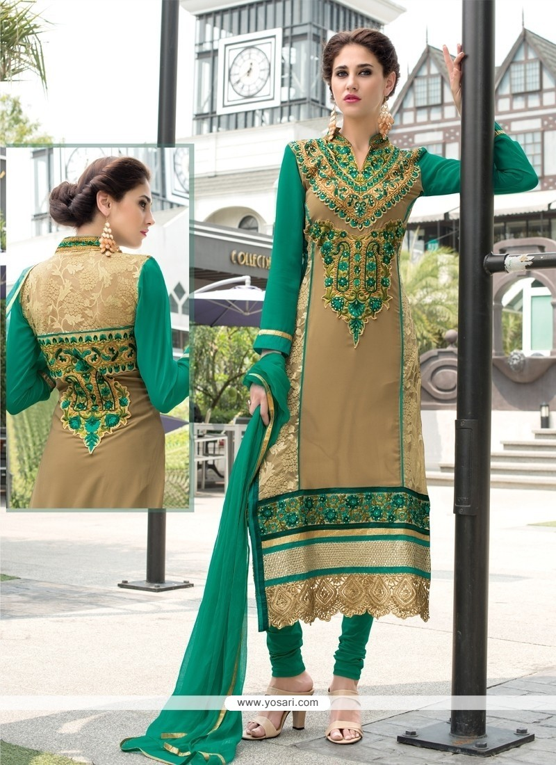 Sightly Georgette Churidar Designer Suit