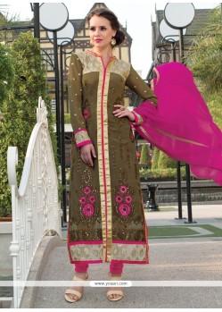 Breathtaking Georgette Churidar Salwar Suit