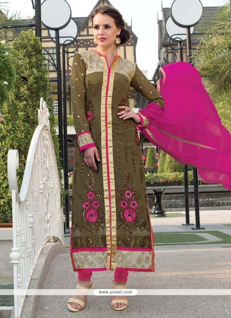 Breathtaking Georgette Churidar Salwar Suit