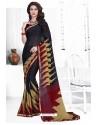 Black Casual Wear Designer American Chiffon Sari
