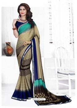 Multi Colour Casual Wear Designer American Chiffon Sari