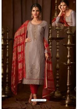 Light Brown Designer Pure Viscose Upada Straight Salwar Suit