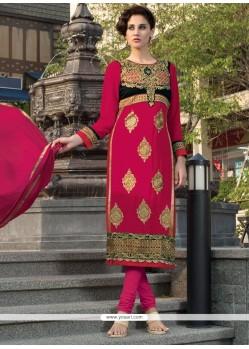 Suave Hot Pink Churidar Designer Suit