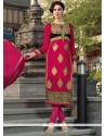 Suave Hot Pink Churidar Designer Suit