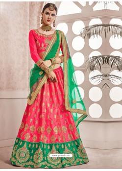 Dark Peach Heavy Embroidered Designer Wedding Lehenga Choli