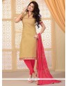 Gleaming Jute Silk Lace Work Churidar Salwar Suit