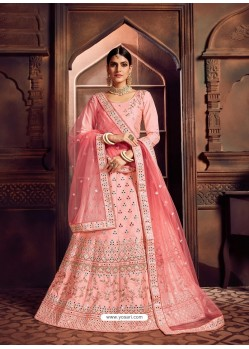 Pink Heavy Embroidered Designer Wedding Lehenga Choli