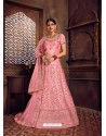Pink Heavy Embroidered Designer Wedding Lehenga Choli