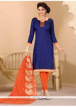 Precious Jute Silk Lace Work Churidar Salwar Suit