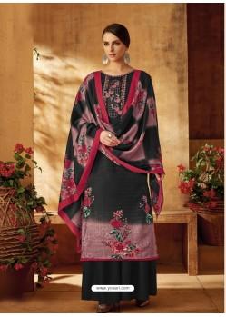 Carbon Designer Wear Pure Pashmina Jacquard Palazzo Salwar Suit
