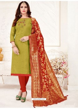 Green Designer Party Wear Readymade Churidar Salwar Suit