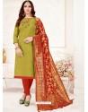 Green Designer Party Wear Readymade Churidar Salwar Suit
