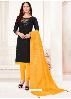 Black Designer Party Wear Readymade Churidar Salwar Suit