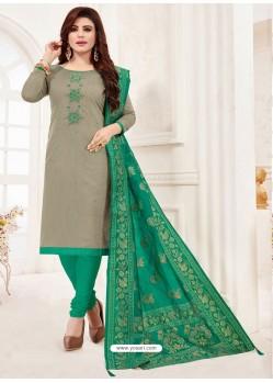 Silver Designer Party Wear Readymade Churidar Salwar Suit
