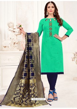 Jade Green Designer Party Wear Readymade Churidar Salwar Suit