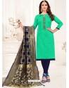Jade Green Designer Party Wear Readymade Churidar Salwar Suit
