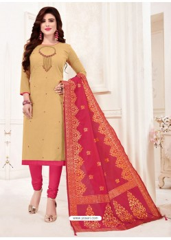 Khaki Designer Party Wear Readymade Churidar Salwar Suit
