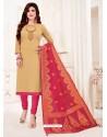 Khaki Designer Party Wear Readymade Churidar Salwar Suit