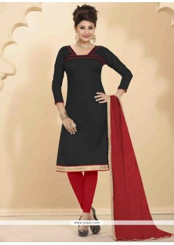 Superb Lace Work Jute Silk Churidar Salwar Suit