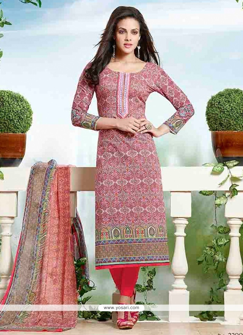 Sonorous Cotton Churidar Designer Suit