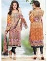 Piquant Print Work Churidar Designer Suit