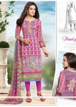 Multi Colour Cotton Churidar Designer Suit