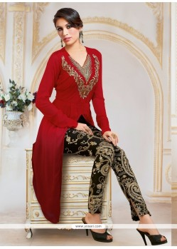 Peppy Red Designer Salwar Suit