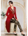Peppy Red Designer Salwar Suit