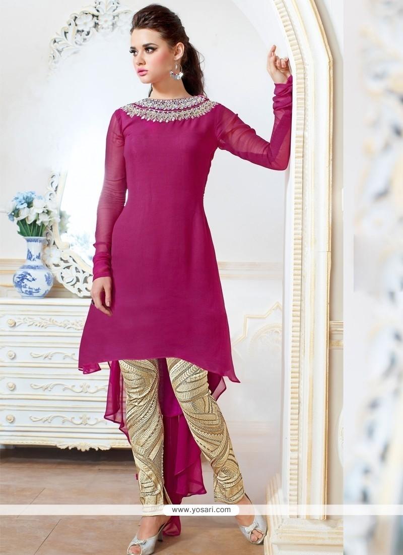 Elegant Magenta Salwar Suit