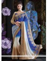 Marvelous Multicolor Faux Georgette Saree