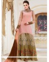 Glamorous Resham Work Georgette Hot Pink Designer Palazzo Salwar Kameez