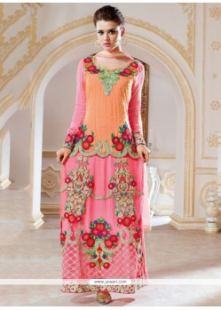 Jazzy Resham Work Georgette Designer Salwar Kameez