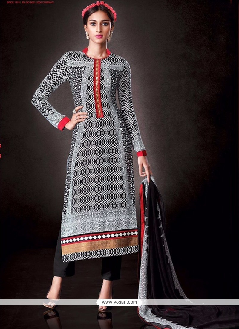 Brilliant Print Work Salwar Suit
