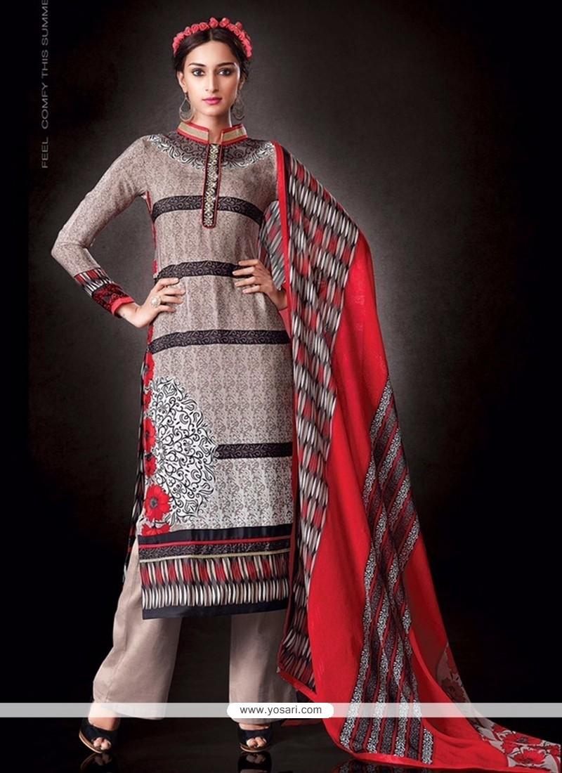 Mesmeric Cream Designer Pakistani Salwar Suit
