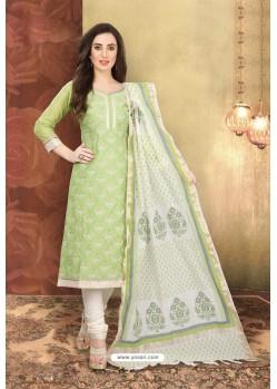 Green Designer Chanderi Silk Suit