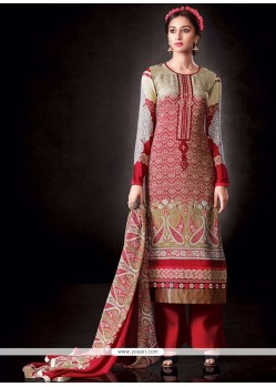 Mesmerizing Red Designer Pakistani Suit