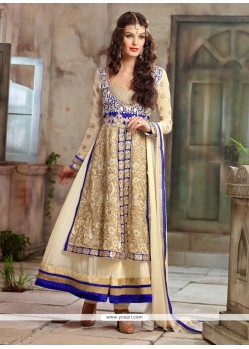 Off White And Cream Georgette Anarkali Suits