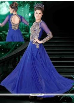 Transcendent Blue Anarkali Salwar Suit