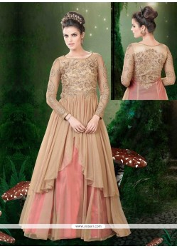 Dashing Net Embroidered Work Floor Length Anarkali Salwar Suit