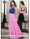 Prodigious Pure Georgette Embroidered Work Floor Length Gown