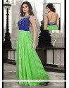 Superlative Sea Green Pure Georgette Floor Length Gown