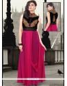 Delightful Zari Work Velvet Designer Gown
