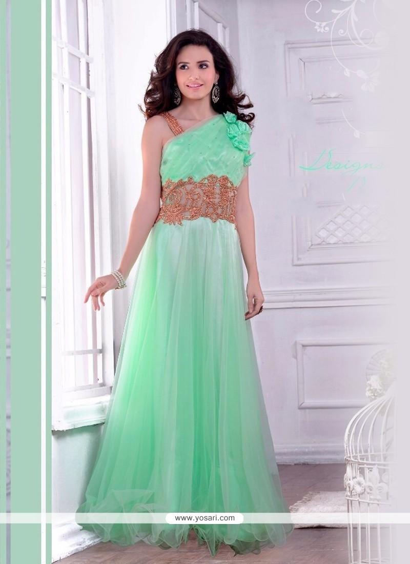 Floral Net Designer Gown