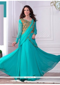 Lurid Resham Work Georgette Gown