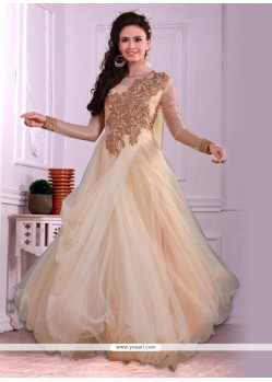 Stylish Embroidered Work Net Designer Gown