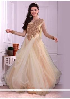 Stylish Embroidered Work Net Designer Gown